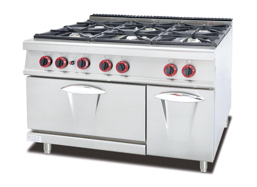 Cucina A Gas 6 Fuochi Con Forno A Gas S 90 120x90 Cm Profondita 90 Cm A Gas Cucine Professionali Cottura Professionale Ristoattrezzature