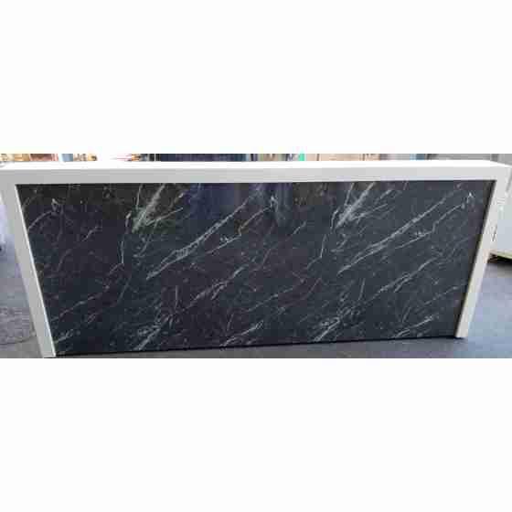 Banco Bar Refrigerato 260 cm - Rivestimento in CORIAN con lavello a sinistra nuovo con lievi graffi