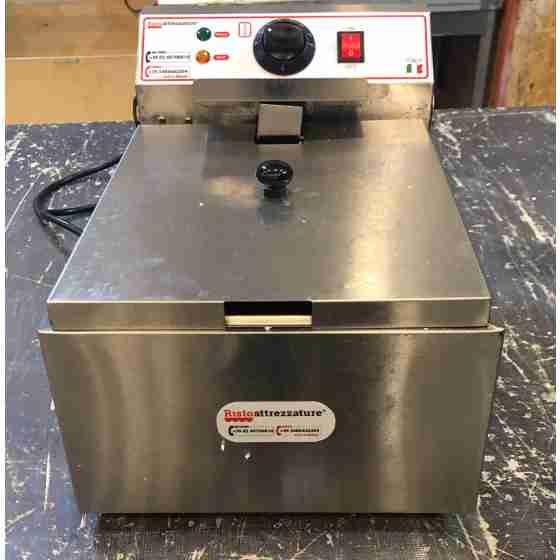 Friggitrice Elettrica professionale singola in acciaio inox per Pub Bar Ristoranti da banco 10 litri usato