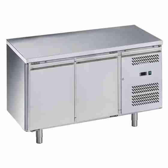 Tavolo frigo refrigerato 2 porte in acciaio inox -2 +8 °C 1360x700x850h mm - FC