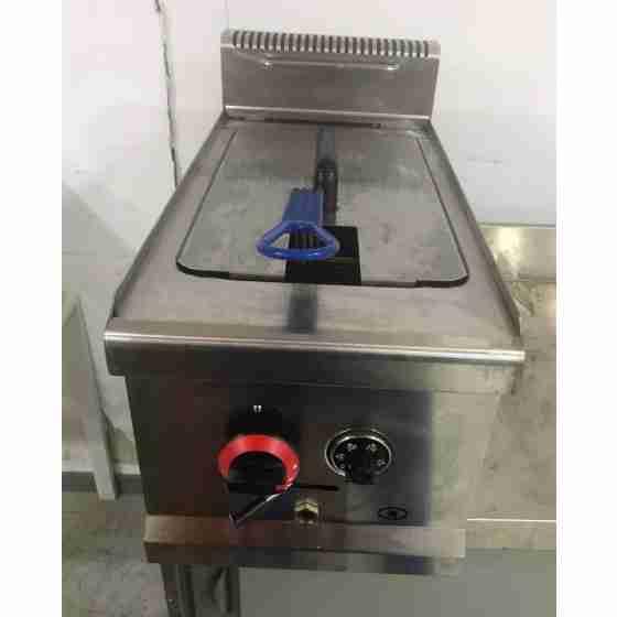 Friggitrice a gas da banco professionale 14 litri in acciaio inox usata