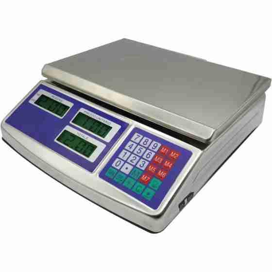 Bilancia elettronica da banco in acciaio inox con piatto max 40 Kg 1 operatore