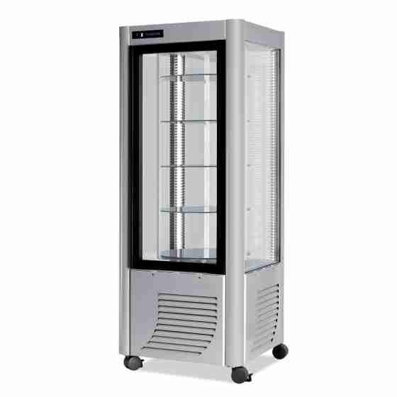 Vetrina pasticceria 5 ripiani tondi Illuminazione a Led Capacità 400 lt
