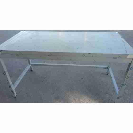Tavolo da lavoro con telaio in acciaio inox 1600x700x850h mm usato