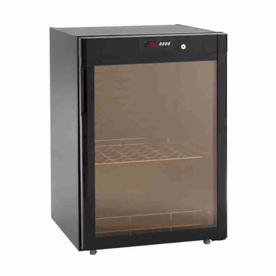 Cantina vini statica refrigerata 1 anta in vetro 72 bottiglie +5  +18 °C