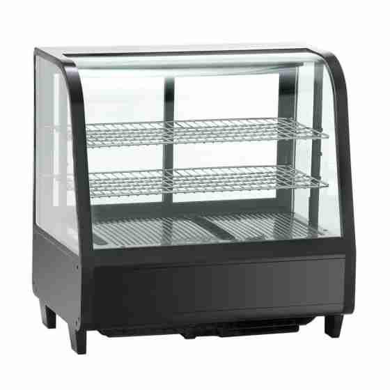 Vetrina refrigerata da banco 4 lati vetro illuminazione led dimensioni 682x450x675h mm capacità 100 lt