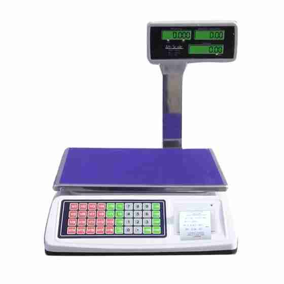 Bilancia digitale professionale con stampante 50 kg divisione 5 g