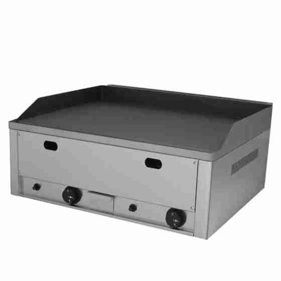 Piastra Fry top acciaio inox professionale gas piano Liscio 660x540x300 mm