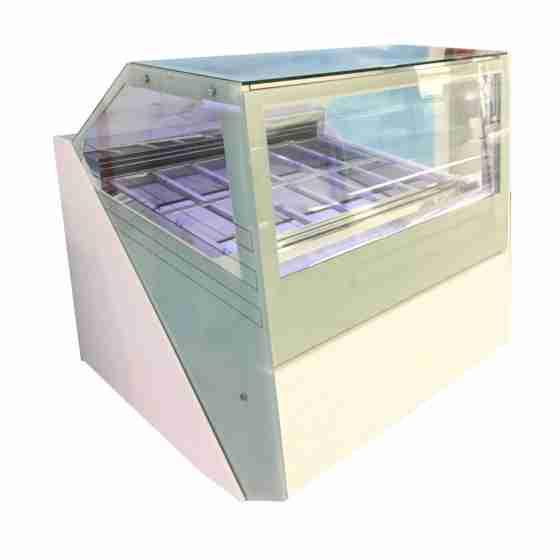 Banco gelati refrigerazione ventilata professionale con doppio evaporatore 12 gusti 1250x1260x1300 h mm