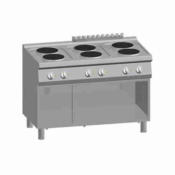 Cucina 6 Piastre Elettriche + Vano