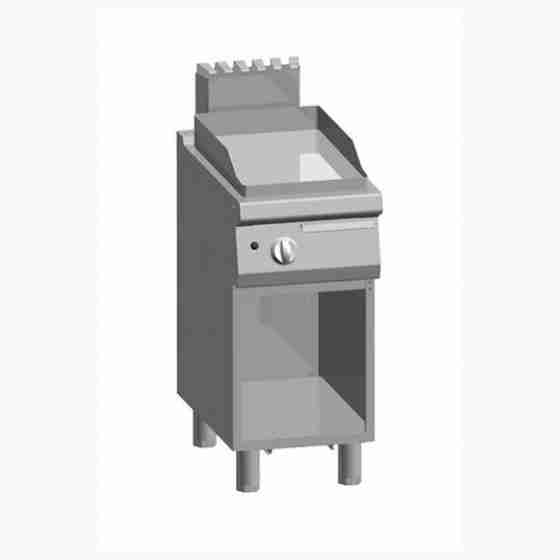 Piastra Fry top acciaio inox professionale gas Liscio Acciaio Dolce + Vano