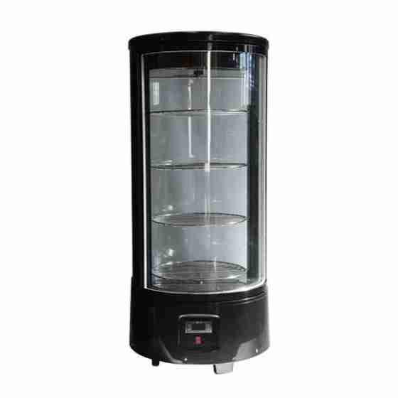 Vetrina refrigerata da banco tondo illuminazione led dimensioni 450x450x983h mm capacità 72 lt