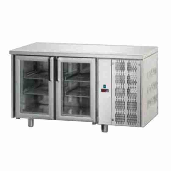 Tavolo Refrigerato GN 1/1 con 2 porte in vetro