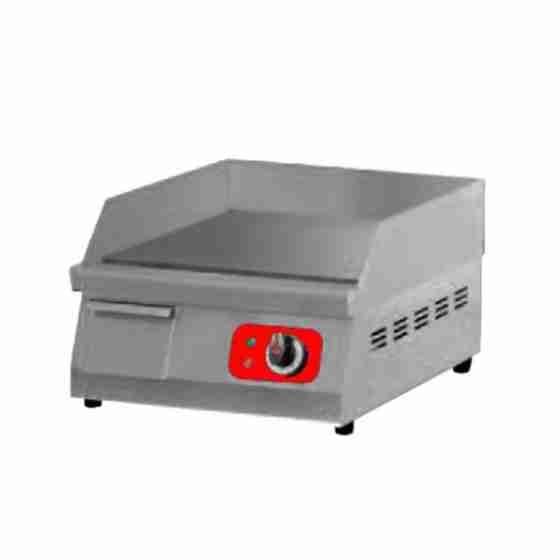 Piastra Fry top acciaio inox professionale elettrico piastra liscia al cromo - 400 mm