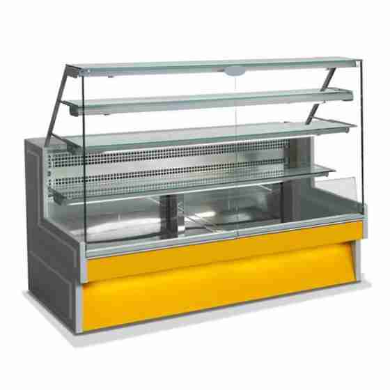 Banco Refrigerato Statico Vetri dritti 140 cm