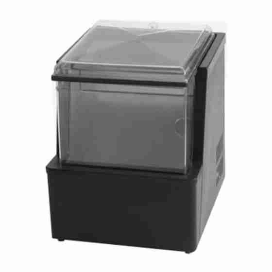 Vetrinetta refrigerata da banco con temperatura negativa per bevande alcoliche 350x400x450h mm