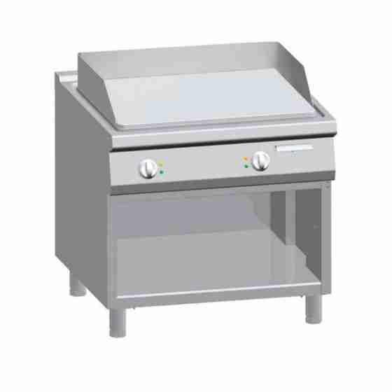 Piastra fry Top elettrico professionale con piastra liscia su mobile S/90