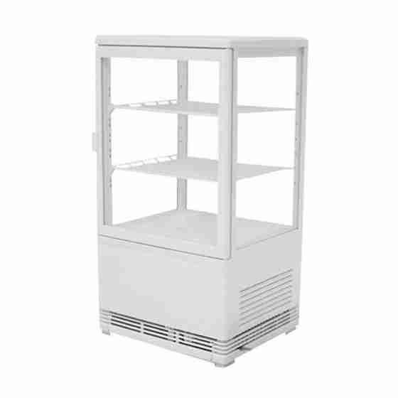 Frigo vetrina bibite refrigerata 4 lati in vetro 58 lt +0 +12 °C 428x386x810h mm