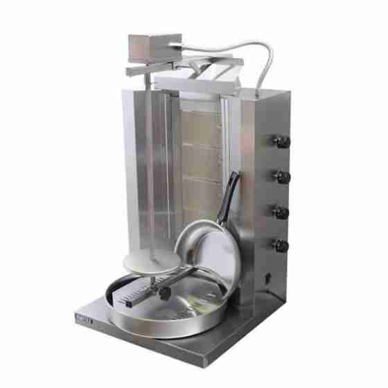 Macchina Doner Gyros Cuoci Kebab a Gas 40 Kg 500x500x900mm