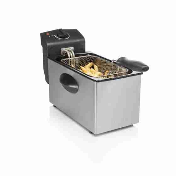 Friggitrice elettrica professionale capacità 3 litri corpo in acciaio inox