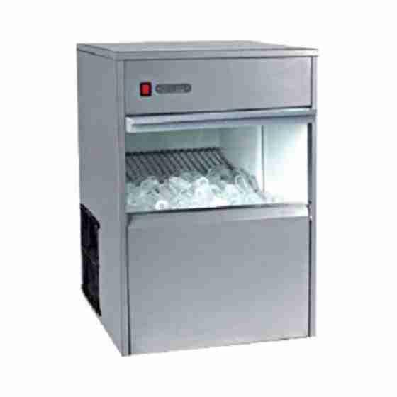 Produttore fabbricatore di ghiaccio cubetti cavi 50 kg / 24h capacità 13 Kg