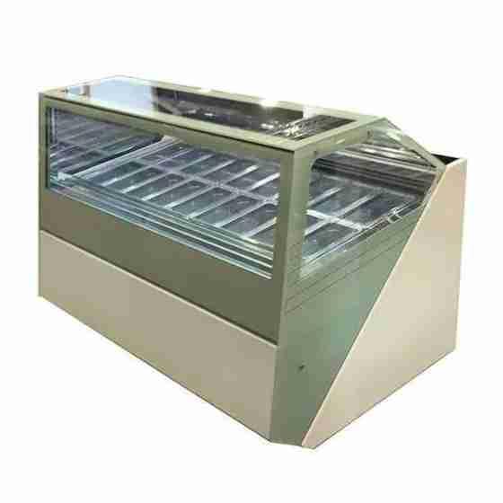 Banco gelati refrigerazione ventilata professionale con doppio evaporatore 18 gusti 1800x1260x1300 h mm