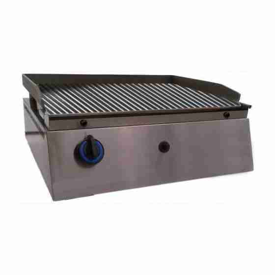 Piastra Fry top acciaio inox professionale gas piano Rigato