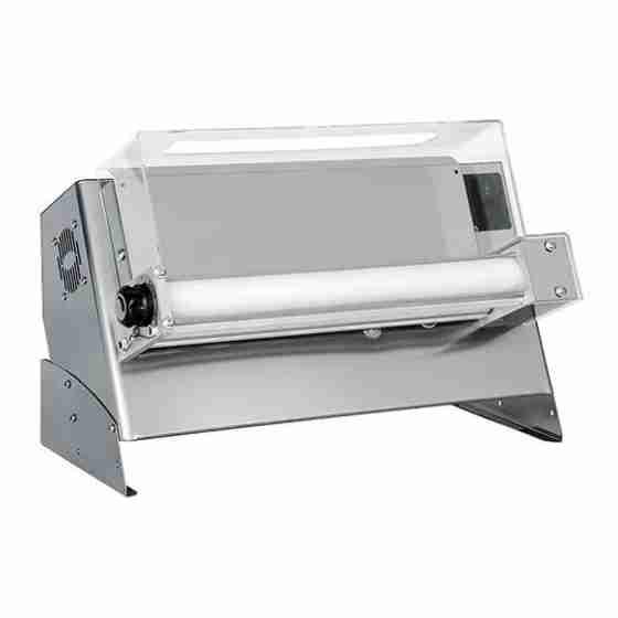 Stendipizza con pedale elettrico di serie in acciaio da banco per pizze dal diametro 26-45 cm Monofose
