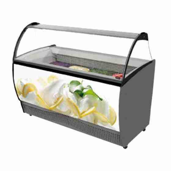 Banco gelati refrigerazione statica 13 gusti 1647x906x1372h mm