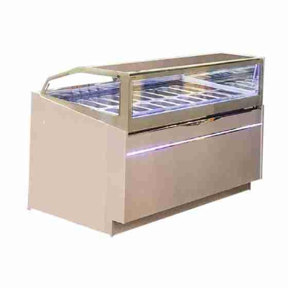 Banco gelati refrigerazione ventilata 18 gusti per bar pasticceria gelateria dimensioni 1780x1200x1200h mm