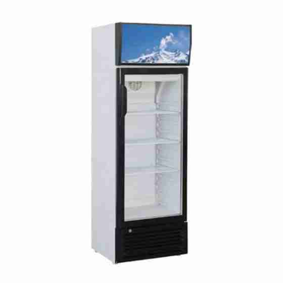 Vetrina frigo bibite espositore refrigerato professionale statico capacità 244 lt