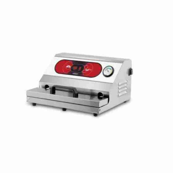 Confezionatrice ad estrazione esterna AUTOMATICA in acciaio inox barra saldante 350 mm Monofase