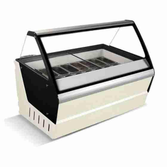 Banco gelati refrigerazione statica 16 gusti 1590x1195x1330h mm