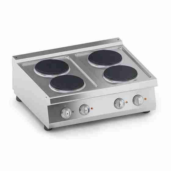 Cucina 4 Piastre Elettriche Top