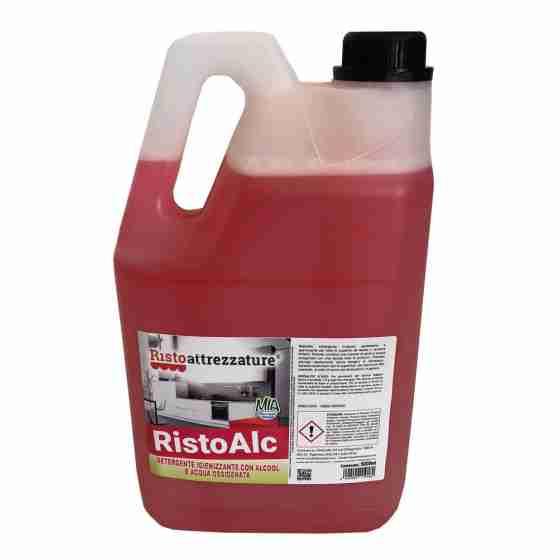 Tanica Detergente Sanitizzante professionale 5 lt con Alcool e Acqua Ossigenata spray battericida antivirus senza risciacquo