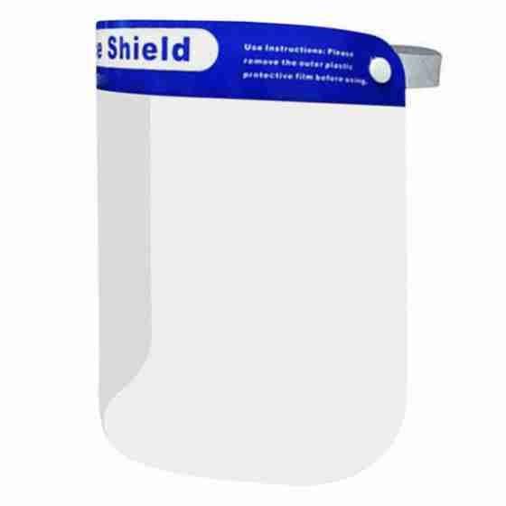 Visiera protettiva medica in policarbonato, protezione per occhi e bocca