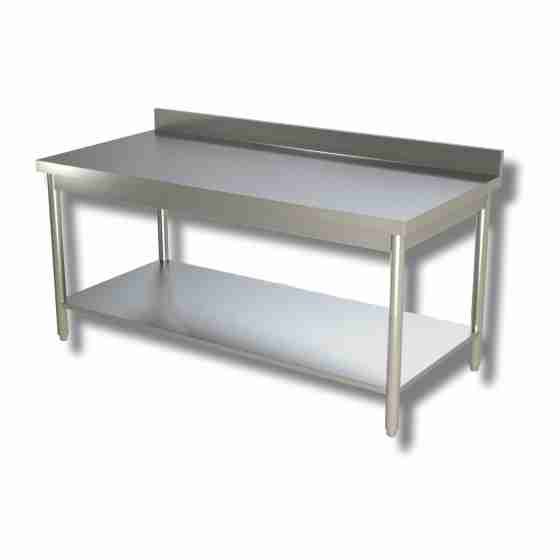 Tavolo su gambe con ripiano e alzatina 100x60x85h cm ...