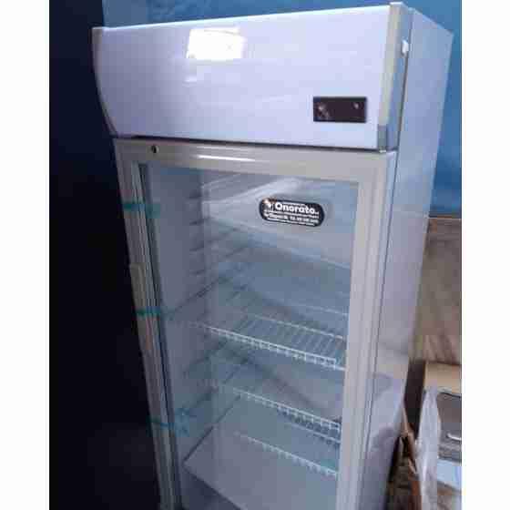 Frigo vetrina bibite verticale refrigerata 1 anta in vetro 0 +10°C 195 lt 535x525x1560h mm a basso consumo energetico usata