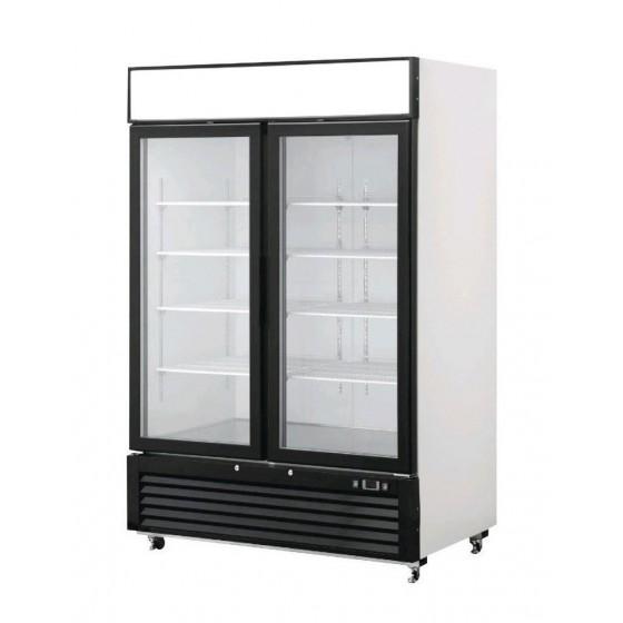 Armadio frigo refrigerato in acciaio smaltato bianco 2 ...