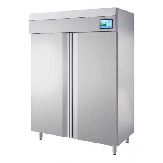 Armadio frigo igienizzante ad ozono in acciaio inox 2 ante ...