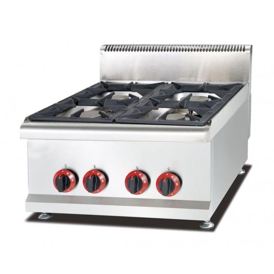 Cucina Quattro 4 Fuochi Professionale A Gas Da Banco Appoggio 60x65x48cm Da Banco A Gas Cucine Professionali Cottura Professionale Ristoattrezzature