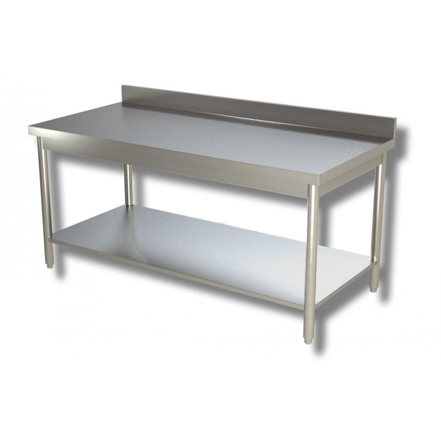 Tavolo su gambe con ripiano e alzatina 140x70x85h cm ...