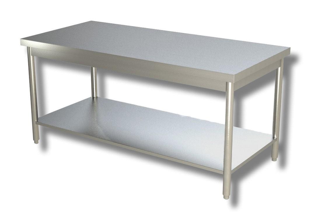 Tavolo Acciaio INOX con Ripiano 180x70 cm - Profondità 70 ...