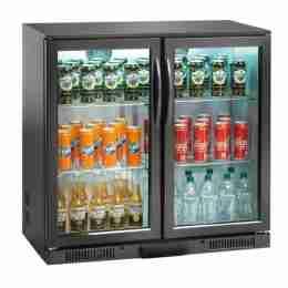 Retrobanco refrigerato ventilato per bibite 2 porte a battente 180 lt 90x50x90h cm