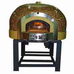 Forno a Gas Rotante 5 Pizze con decorazione a Mosaico