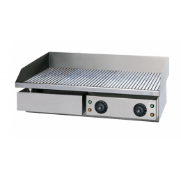 Fry top griglia elettrico professionale da banco piastra rigata 4.4 kW 735x530x245h mm