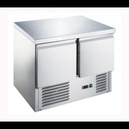 Banco frigo saladette con piano in acciaio inox 2 porte 900x700x876h mm