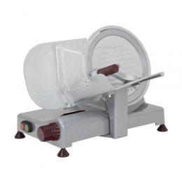 Affettatrice per salumi a gravità con affilatoio amovibile lama cromata Ø 250 mm 0.14 kW