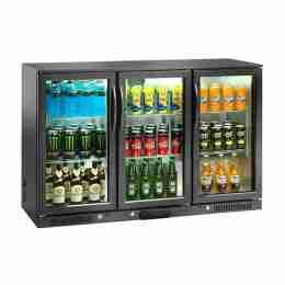 Retrobanco refrigerato ventilato per bibite 3 porte a battente 300 lt 133,5x50x90h cm