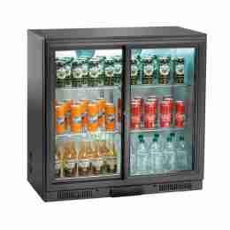 Retrobanco refrigerato ventilato per bibite 2 porte scorrevoli 197 lt 90x51x90h cm